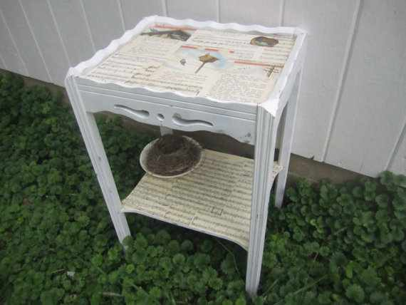 sheet music side table