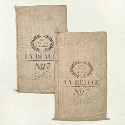 french grain sack burlap bag