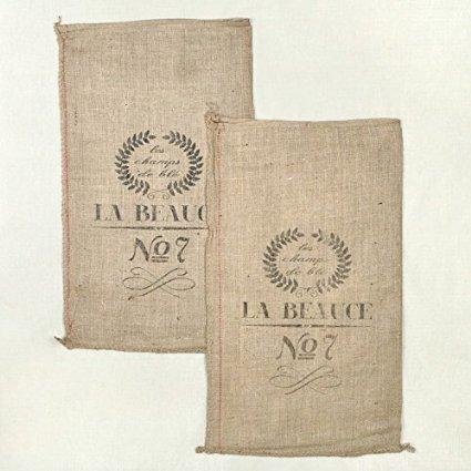 french grain sack burlap bag