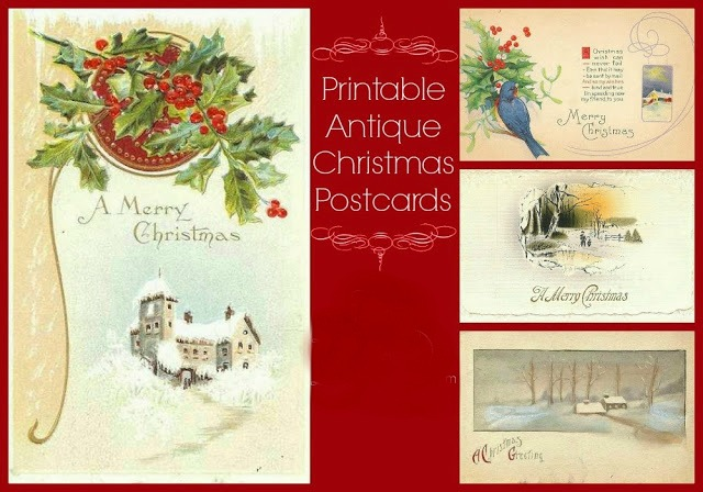 Antique Christmas Postcards via Knick of Time