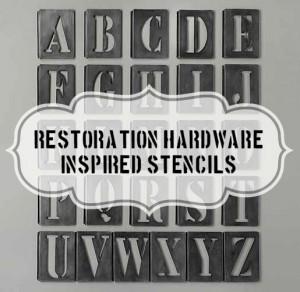 {Vintage} Metal Stencils – My Restoration Hardware Knock-Off