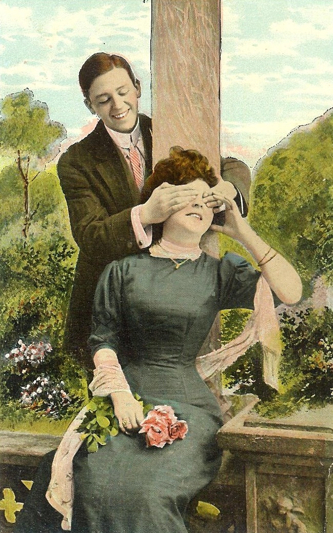 antique valentine postcards