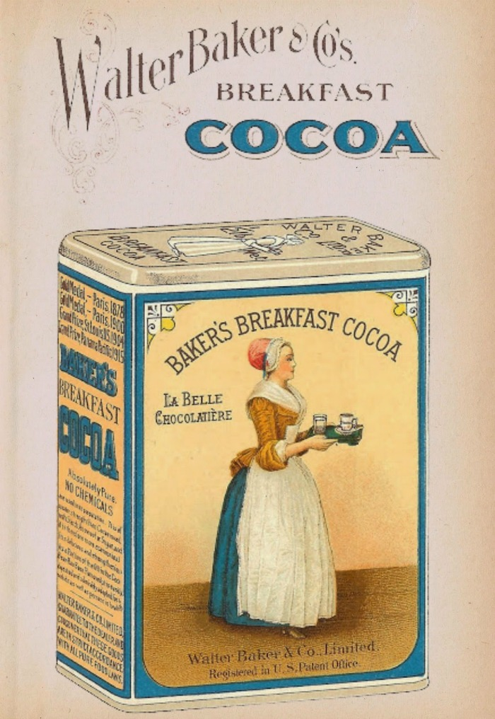 Baker's Cocoa Antique Advertisement Free Graphic Printable from Knick of Time | knickoftime.net