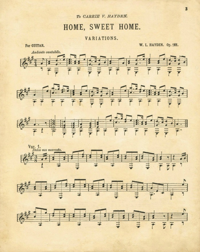 picture regarding Vintage Sheet Music Printable titled Property Cute Residence Antique Sheet Audio Printable Knick of Season