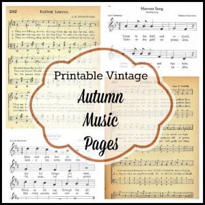 Antique Graphics Wednesday – 6 Autumn & Halloween Songs