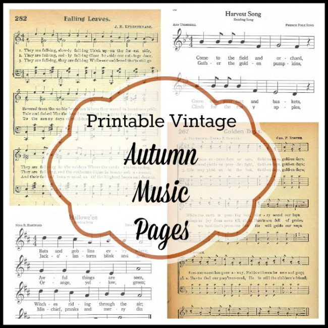 Free printable autumn fall and Halloween music pages - www.knickofime.net