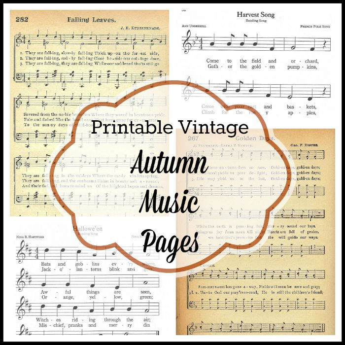 autumn sheet music