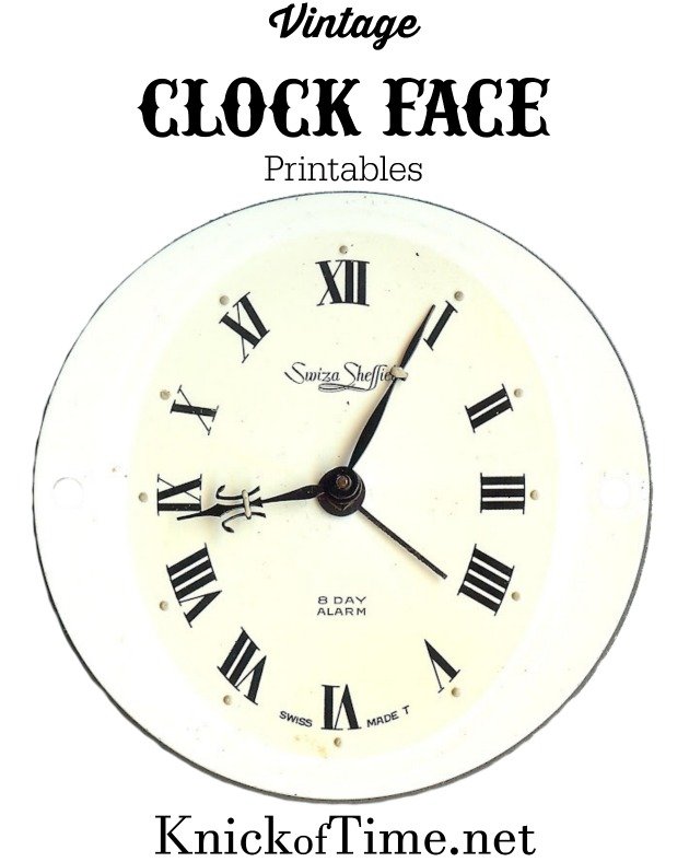 Clock Face Printable from KnickofTime.net