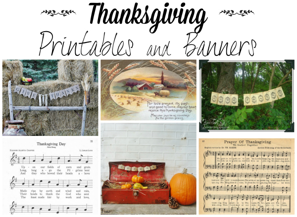 Thanksgiving Printables and Banners