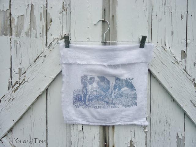 flour sack towel wall hanging