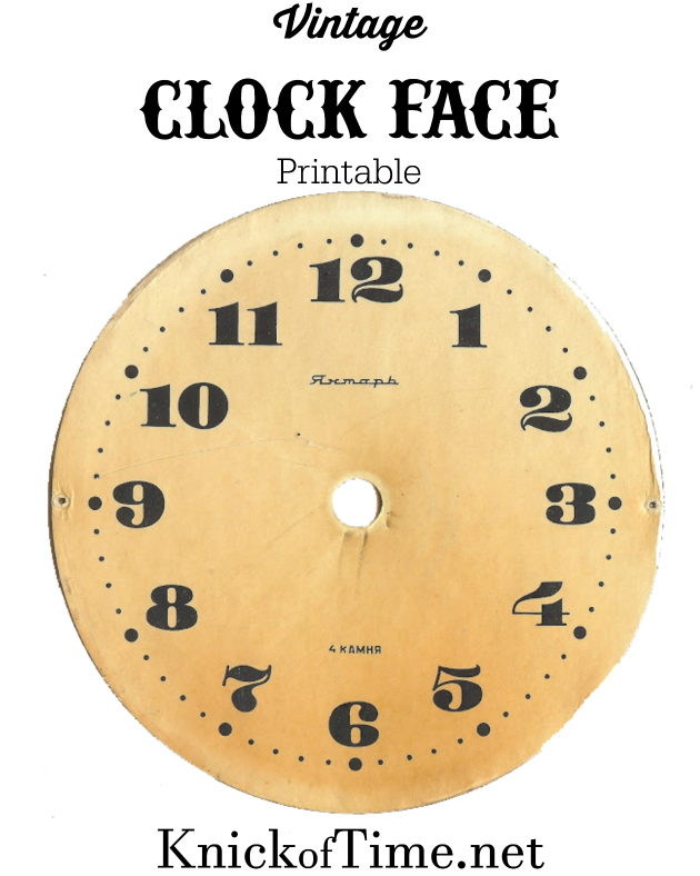 picture about Clock Faces Printable referred to as Antique Graphics Wednesday - Clock Faces Knick of Year