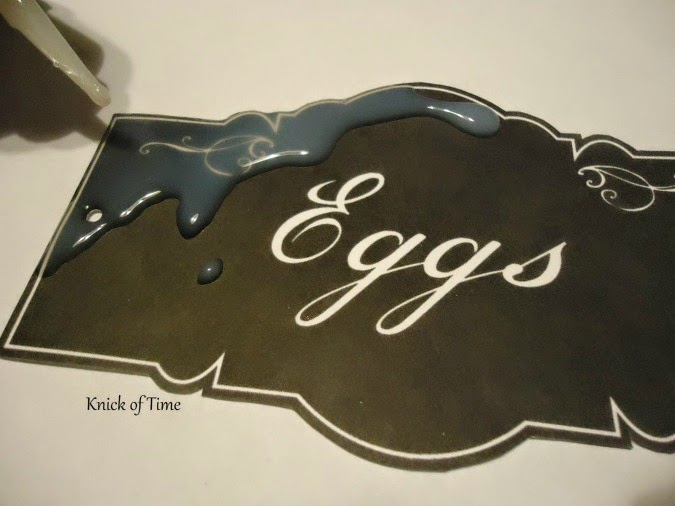 DIY enamel sign