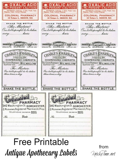 Printable Apothecary Labels