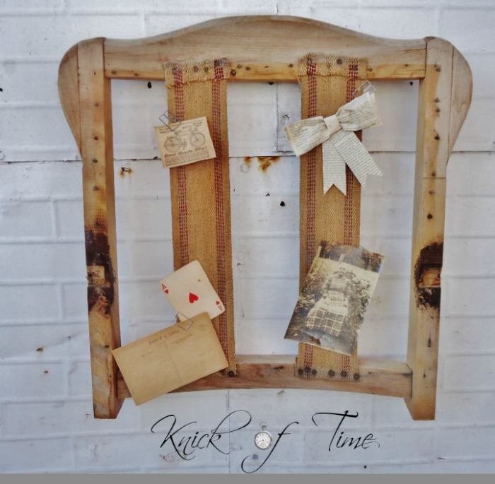 Repurposed Antique Chair Back by Knick of Time