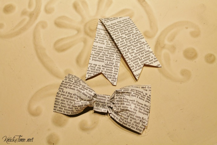 how to make a perfect paper bow - KnickofTime.net