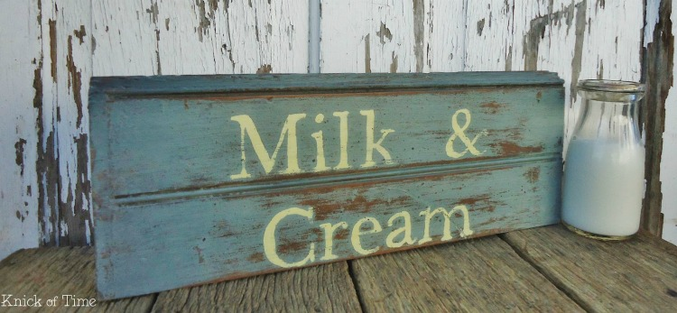 milk and cream sign