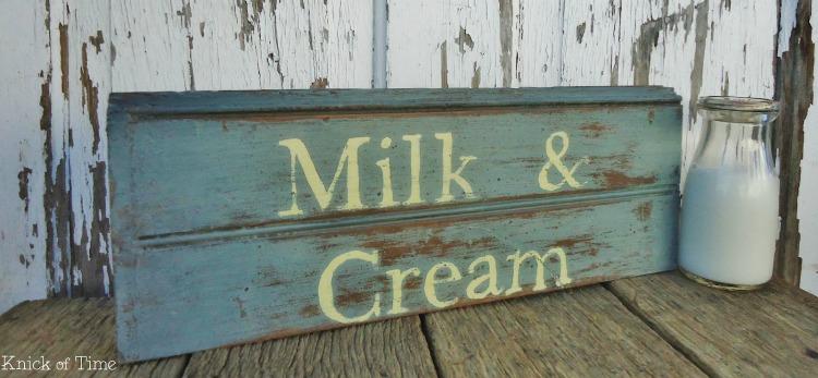 milk and cream sign