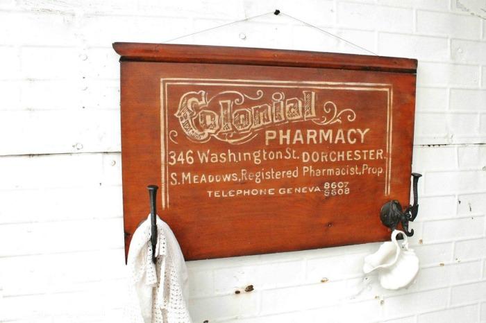 DIY Antique Pharmacy Sign