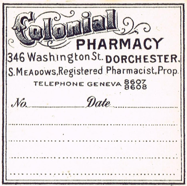 Antique Graphics Colonial Pharmacy Apothecary Label