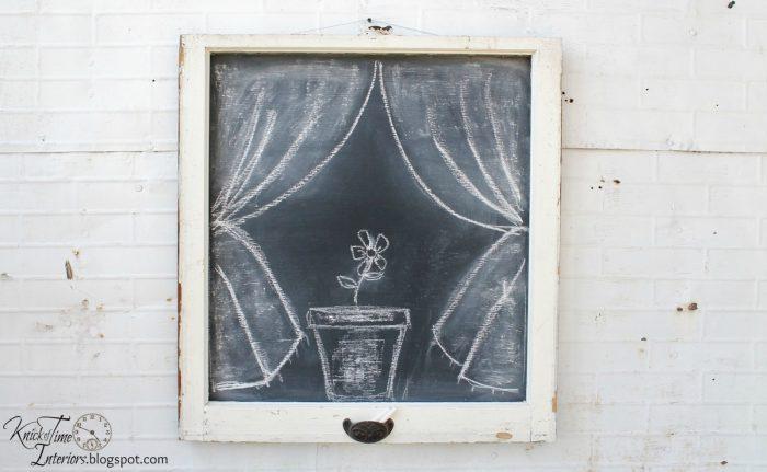 farmhouse window chalkboard | knickoftime.net