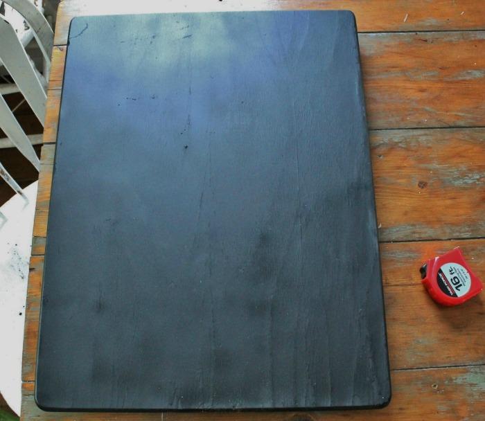 salvaged wood turned chalkboard