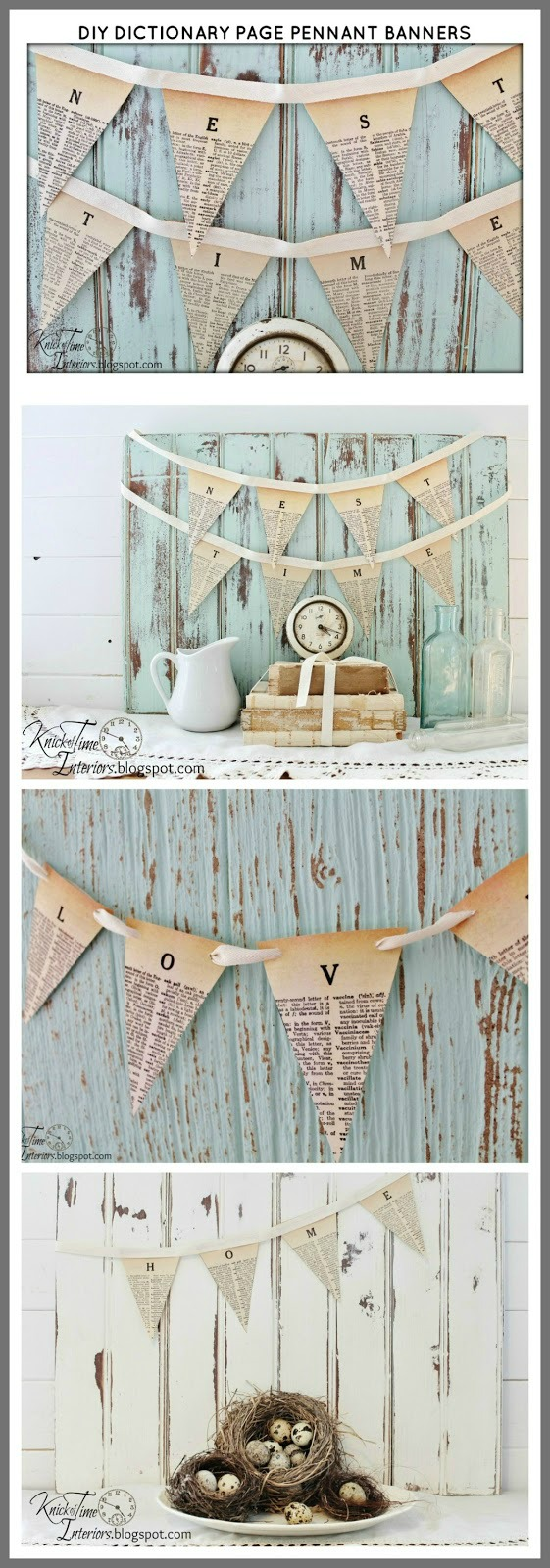 Free Printable Dictionary Pennant Banner | www.knickoftime.net