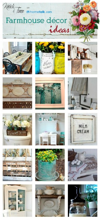 Farmhouse decor blogs, thrifty farmhouse decor ideas and DIY projects to give your home the farmhouse style you love! -KnickofTime.net