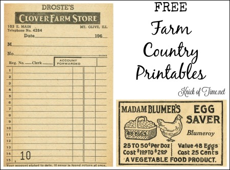 Antique Graphics Wednesday - Farm Store Receipt & Egg Saver