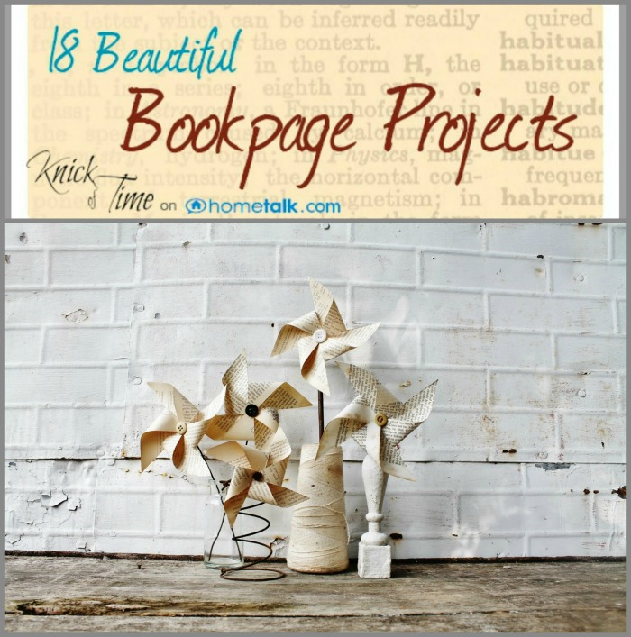 Repurposed Book Page Projects
