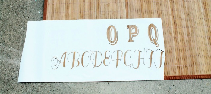 DIY typography bamboo runner by Knick of Time