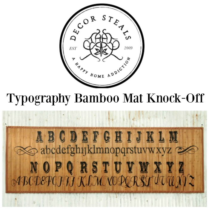 Decor Steals Typography Bamboo Floor Mat Knock-Off by Knick of Time