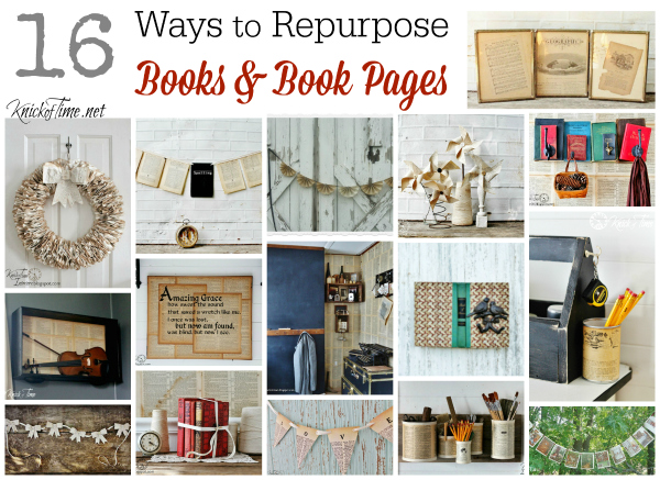 Repurposed Books Projects - KnickofTime.net