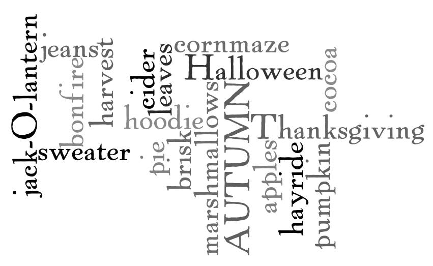 Wordle Fall printable 3