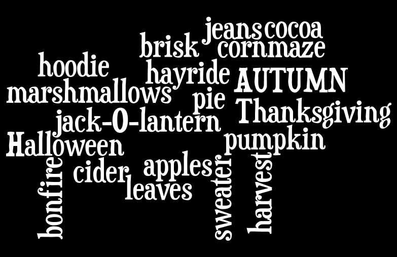 Wordle Fall printable 4