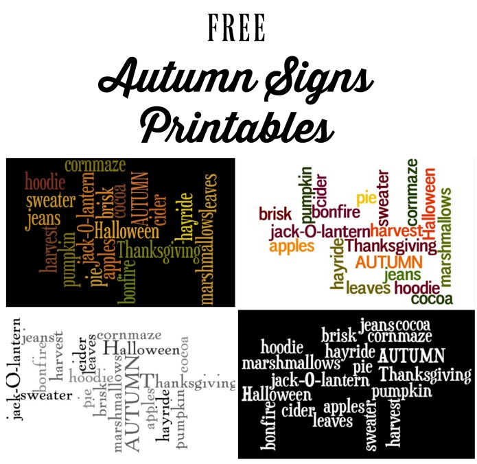 free autumn fall signs printables | www.knickoftime.net