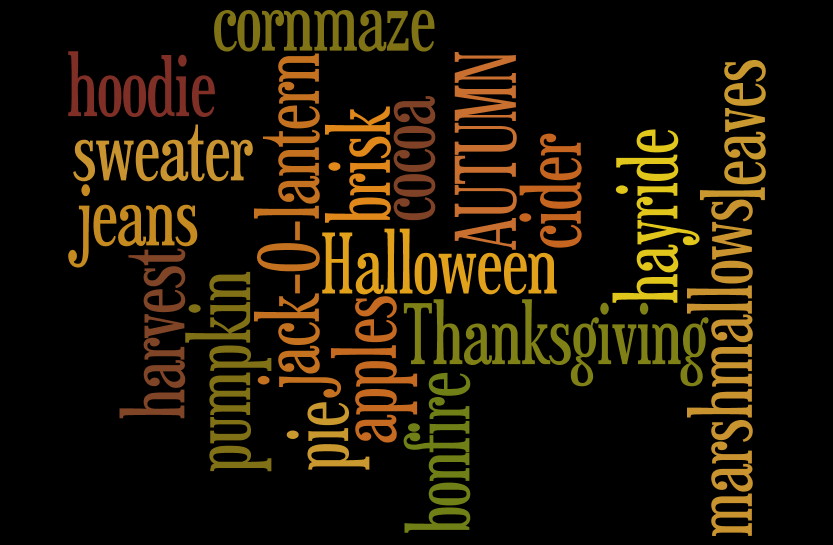 Wordle Fall printable