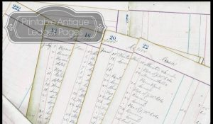 Antique ledger page printables from Knick of Time