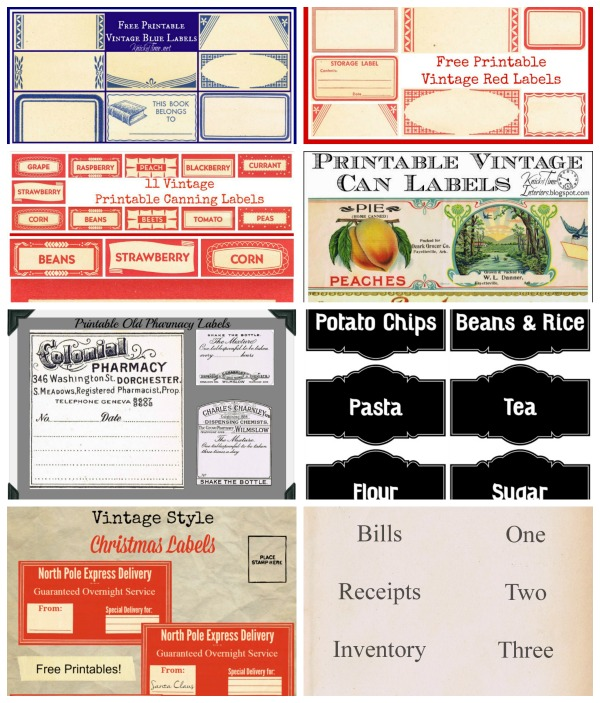 Vintage Labels Free Printables