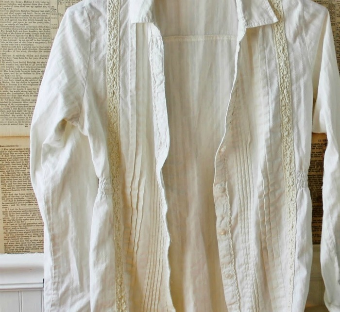 Crinkled Cotton White Shirt