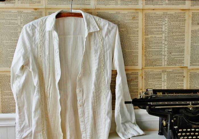 Crinkled Cotton White Shirt