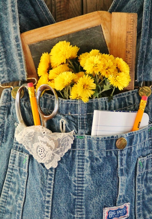Repurposed Overalls Wall Pocket | knickoftime.net