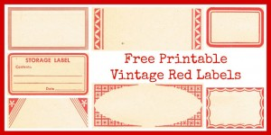 8 Vintage Red Labels – Perfect for Christmas!