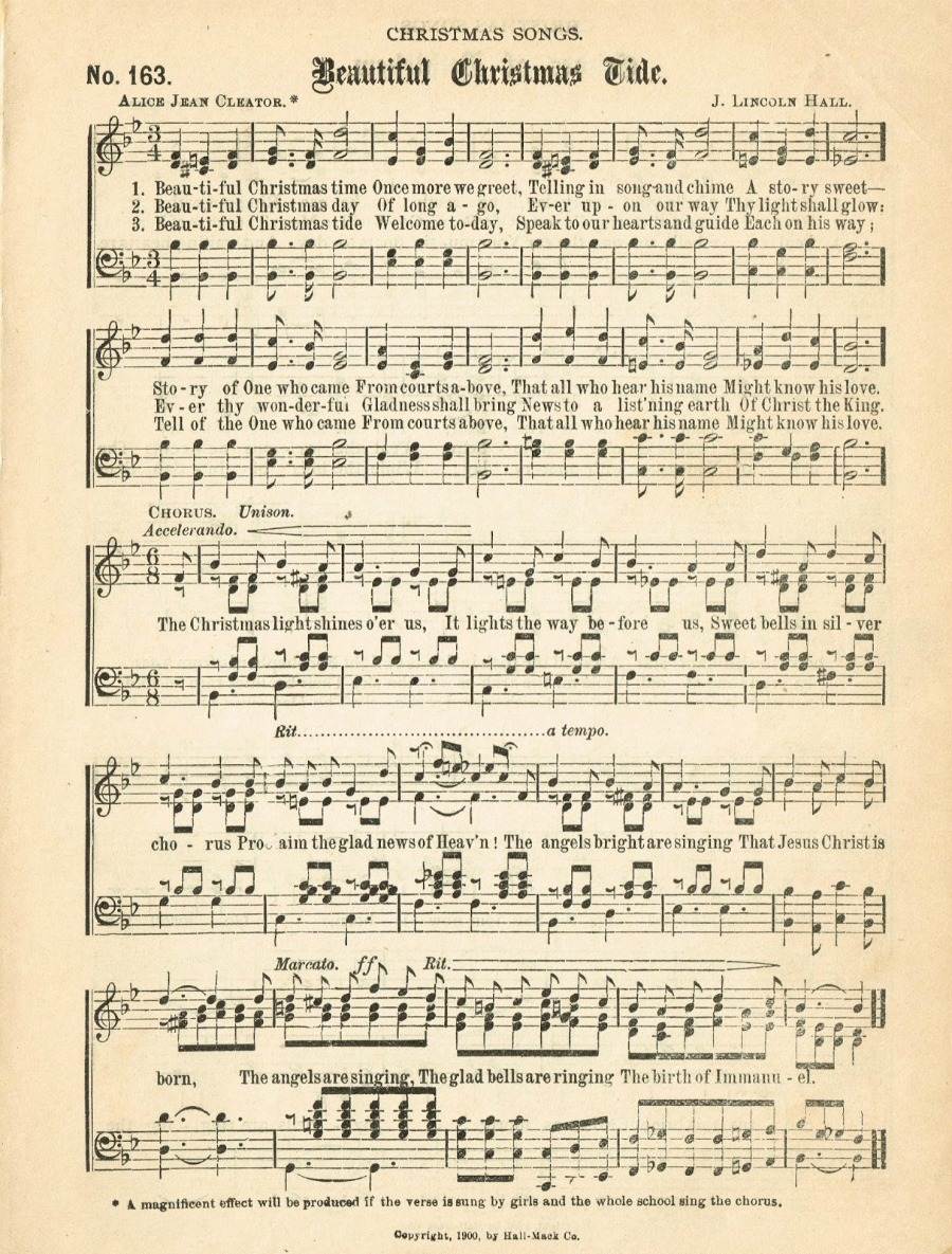 photo regarding Free Printable Vintage Christmas Sheet Music identify Xmas Songs Web pages - Lots of totally free webpages! Knick of Year