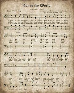 Joy to the World Printable Christmas Hymn
