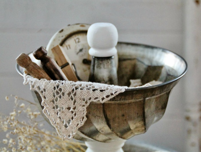 Repurposed bundt baking pan tiered stand by Knick of Time