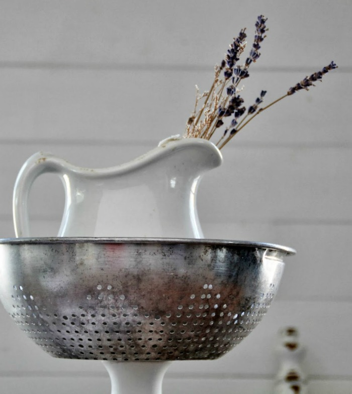 Repurposed colander strainer tiered stand by Knick of Time