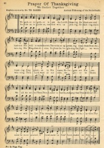 Prayer of Thanksgiving – Hymn Book Page