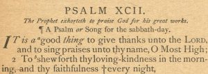 Psalm 92 Antique Bible Page