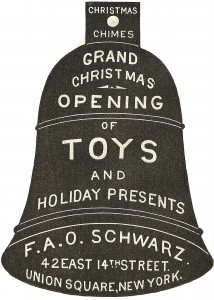 Advertisement Christmas Ornament: 1800's FAO Schwarz Bell