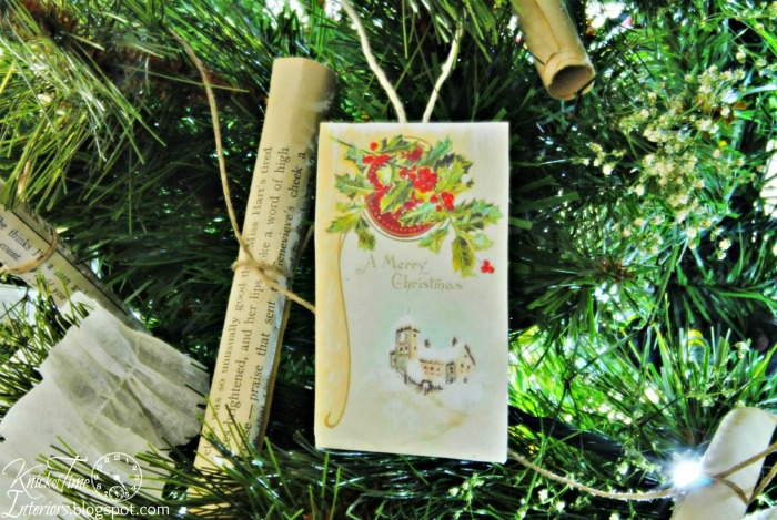 Antique Christmas Postcards Ornaments via Knick of Time | knickoftime.net
